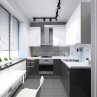 Угловая кухня в однокомнатной квартире