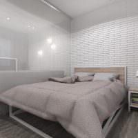 Зонирование общей комнаты стеклянной перегородкой