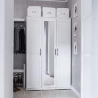 Шкаф с зеркалом на одной дверце