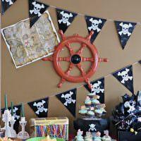 Декор стены детской в пиратской тематике