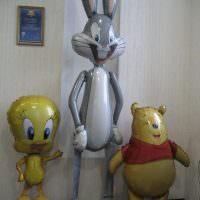 Воздушные шары в виде героев мультфильмов