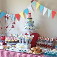 Сервировка сладкого стола на детский день рождения