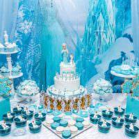 Сладкий стол с тортом и пирожными