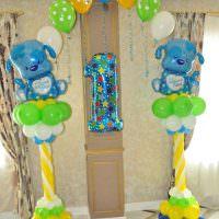 Арка из воздушных шаров в честь именинника