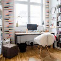 Книжные полки в домашнем кабинете