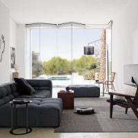 Дизайн гостиной в современном загородном доме