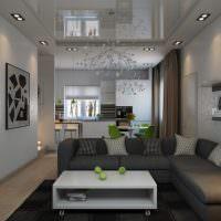 Дизайн гостиной без окон в современном стиле