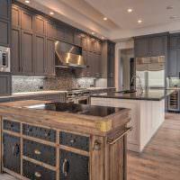 Мебель в ретро стиле в интерьере кухни