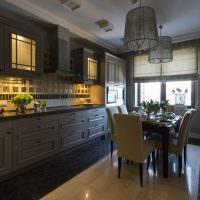 Подсветка рабочей зоны в линейной кухне