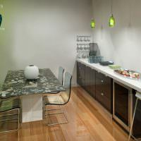 Дизайн кухни без подвесных шкафов
