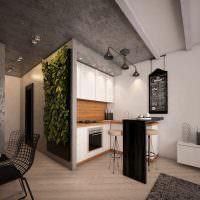 Серые поверхности бетонных стен и потолка