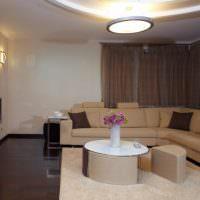 Бежевый диван угловой конфигурации