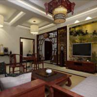 Дизайн гостиной городской квартиры в китайском стиле