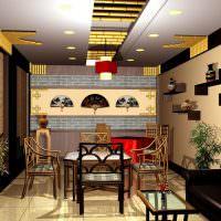 Дизайн обеденной зоны в азиатском стиле