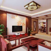 Оформление современной квартиры с элементами китайского стиля