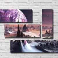 Композиция из четырех модульных картин