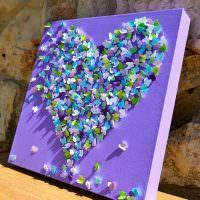 Сердечко из бумажных бабочек своими руками