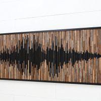 Картина из деревянных реечек для декора дома
