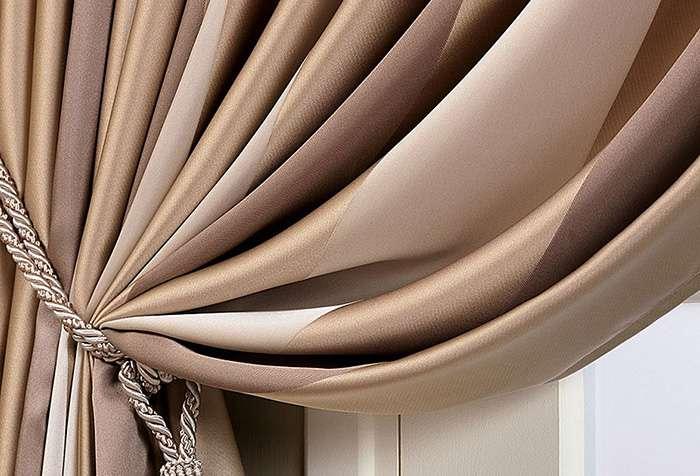 Коричневая штора кофейного оттенка