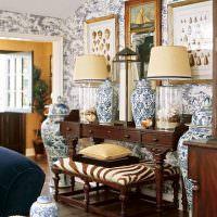Декорирование интерьера фарфоровыми вазами
