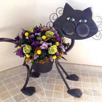 Горшок для цветов в форме кота