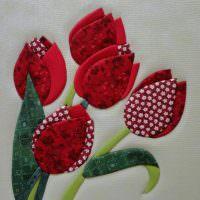 Тюльпаны из тканевого материала своими руками