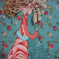 Декоративная композиция в технике лоскутного шитья
