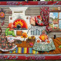 Лоскутная картина для интерьера детской комнаты