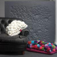 Декор интерьера мягкими шариками