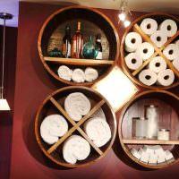Необычные полки для туалетных принадлежностей