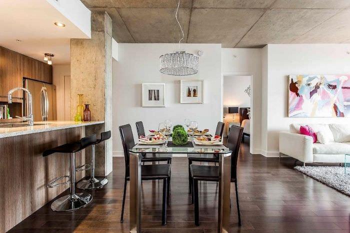 Интерьер двухкомнатной квартиры после перепланировки