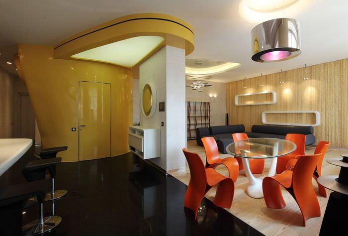 Дизайн современной квартиры в стиле футуризма