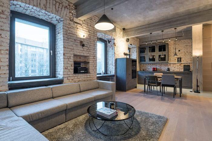 Дизайн современной квартиры в стиле лофт