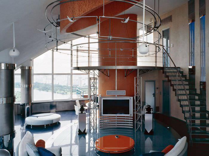 Современный интерьер квартиры в стиле техно