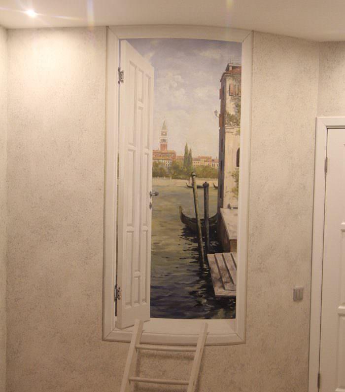 Роспись стены как украшение домашнего интерьера