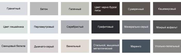 Различные оттенки серого цвета для оформления интерьера кухни