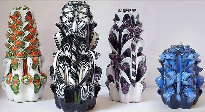 Декоративные свечи для украшения интерьера комнаты