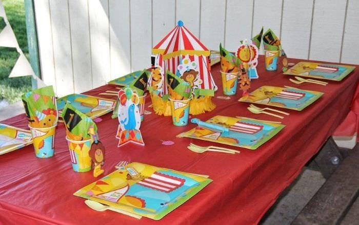 Сервировка стола на день рождения мальчика в 1 год