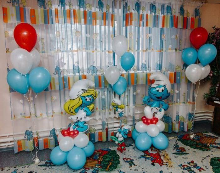 Декор шарами детской комнаты к празднику