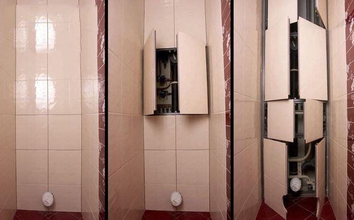 Декорирование систем коммуникаций в ванной комнате