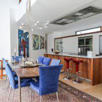 Дизайн кухни-столовой с островом