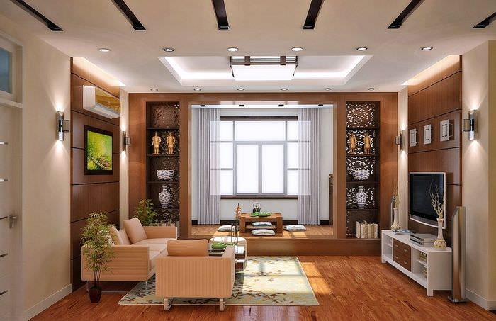Дизайн гостиной по правилам фэн-шуй