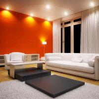 Освещение гостиной в стиле минмализма