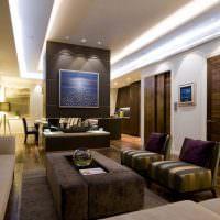 Светодиодная подсветка потолка гостиной