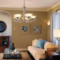 настольная лампа с текстильным абажуром
