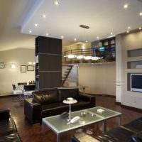 Точечные светильники на потолке из гипсокартона