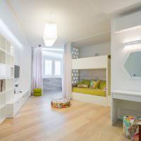 Дизайн детской комнаты в белом цвете