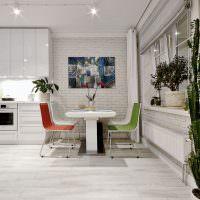 Дизайн кухни-столовой в современном стиле