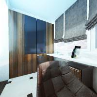 Домашний офис на утепленном балконе