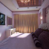 Дизайн узкой спальни в квартире многоэтажного дома